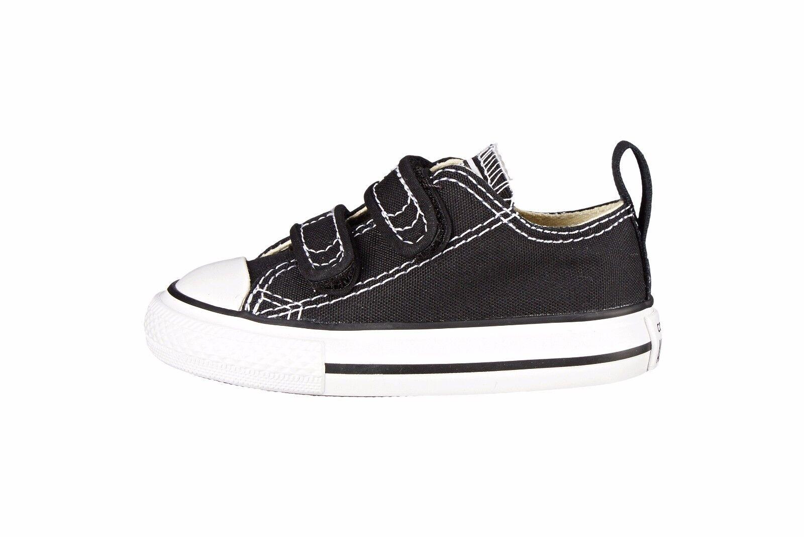 bc6486728d1e71 Converse Toddler Chuck Taylor Velcro 2 Strap Black White Slip on ...