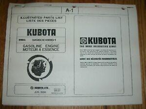 image is loading kubota-wg600-bbs-1-illustrated-parts-list-manual-