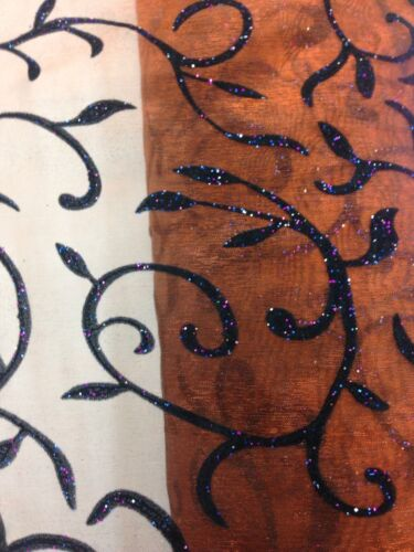 Light Brown Glitter Flake Organza Craft Dress Making 150 Cm Wide