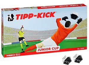 TIPP-KICK-JUNIOR-CUP-Fussball-Spiel-Bande-2-extra-Baelle-Tip-Kick-Tischfussball