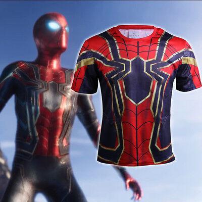 2018 Avengers Infinity War T-Shirts Cosplay Spiderman T-Shirts 3D Sports T-Shirt