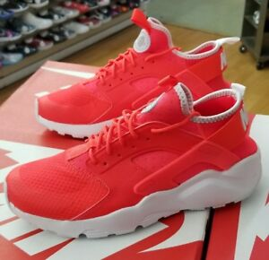 199ebe2f69ab NIKE AIR HUARACHE RUN ULTRA 819685 602 BRIGHT CRIMSON WHITE MEN US ...