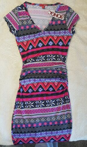 Juniors Dress Bongo brand Tribal Print S Small M Medium L Large NWT NEW $21.99