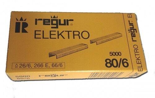 Heftklammern Regur 80//6 Elektro26//6 66//65.000 Stück