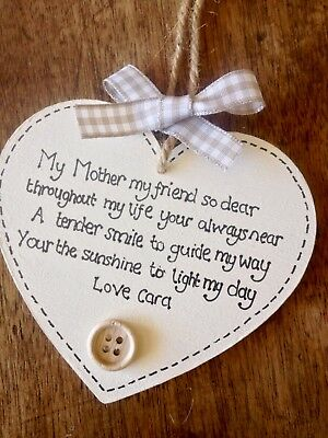 Birthday Godmother Personalised Mothers Day Nan Keepsake Plaque Sign Present ⭐