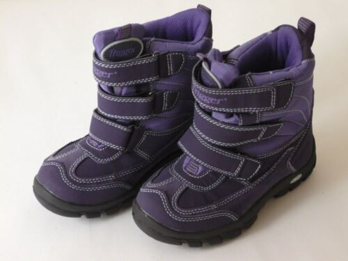Details about  /Trigger By Bundgaard Tex Boat Childrens Shoes 29 30 31 32 Purple New