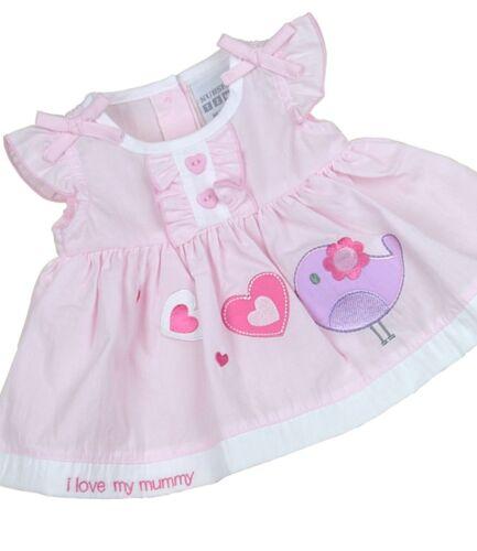 BabyPrem Baby Dress Girls Pink White Summer Dress Newborn 0-3  3-6 Month Clothes