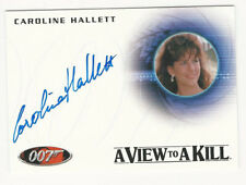 autógrafo tarjeta A237 Caroline Hallett James Bond autógrafos /& reliquias 40th Ann