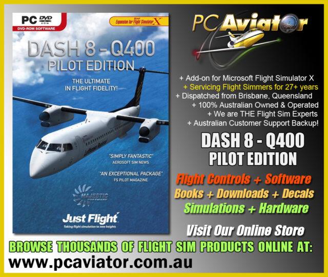 Majestic Software Dash 8 Q400 Pilot Edition Boxed DVD (FSX Addon) - Aus  Seller
