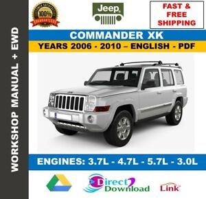 Workshop manual jeep commander xk 2006-2010. includes ...