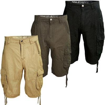 Cargo 6 Pockets Shorts Army Summer Chino Pants Mens Size