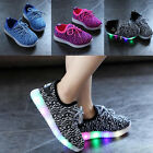 Children Boys Girls Fashion LED Light Up Luminous Sneakers Kids Running shoes