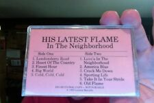 His Latest Flame- In the Neighborhood- new/sealed cassette- promo