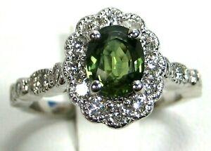 Green-Sapphire-Ring-18K-white-gold-Antique-Rare-VS-GIA-Appraised-Heirloom-6-59