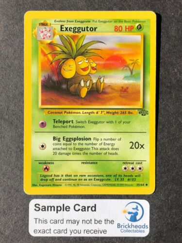 Exeggutor 35//64 Jungle Standard Pokemon Card