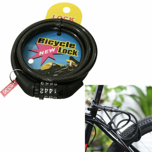 Bicycle Digit  Lock MTB Bike Security Anti-theft Combination Lock Cable Lock