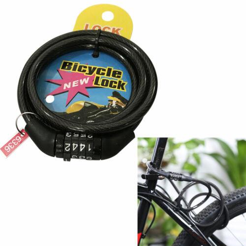 Bicycle Locks Black Digit Codes Mountain Road Bike  Anti-theft Combination Lock