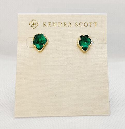 Gold New Kendra Scott Tessa Stud Earrings In London Blue