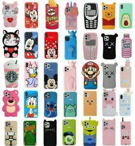 Case-Cover-For-iPhone-4-5-6S-7-8-Plus-X-XS-XR-Cute-3D-Cartoon-Silicone-Kids-Skin