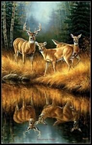 Whitetail-Reflections-Chart-Counted-Cross-Stitch-Pattern-Needlework-Xstitch