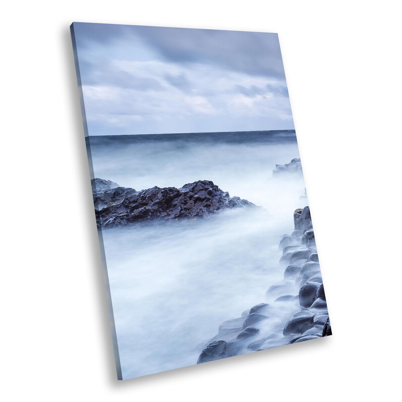 Blau Giants Causeway Ireland Portrait Scenic Canvas Wall Art Picture Prints
