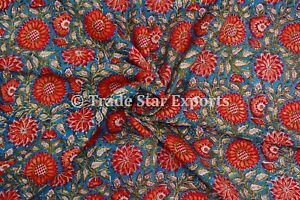 Indian-Hand-Block-Print-Dress-Making-Fabric-Sanganeri-Cotton-Fabric-By-The-Yard