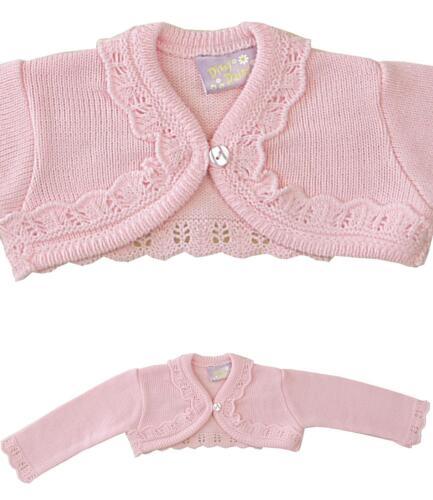 Babyprem Bébé Fille Bolero Cardigan Haussement 0-3 3-6 6-9 9-12 12-18 18-24 Mois