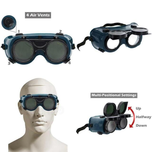 1 pr Welding /& Cutting Safety Eye Cup Goggles Black w//vents STEAMPUNK GOGGLES