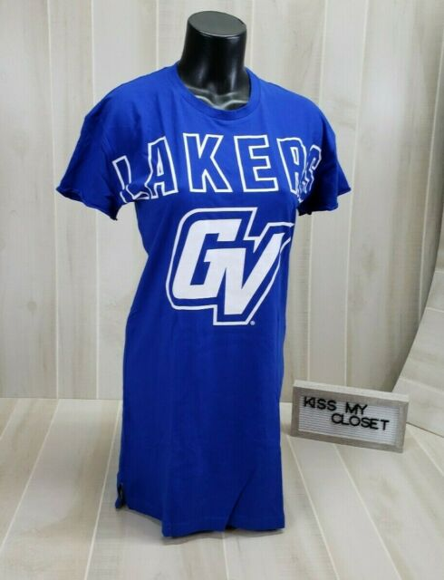Victoria's Secret Pink Grand Valley State Lakers Shirt Dress Blue ...