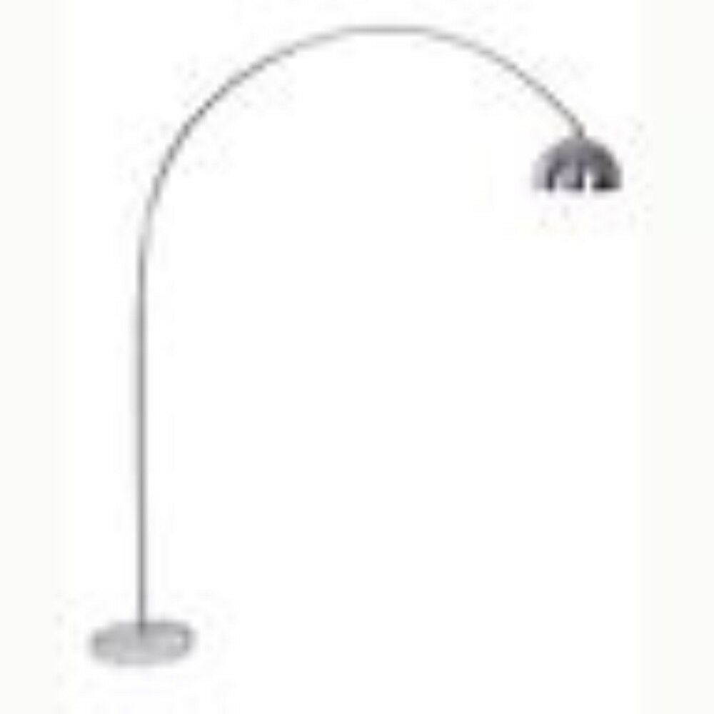 Beautiful Contemporary Arch Floor Lamp with Weiß Marble Base in Chrome Finish
