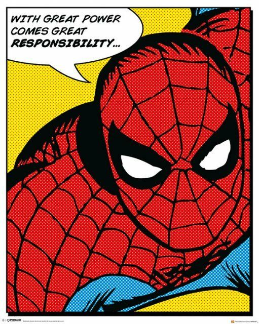 Poster SPIDER-MAN - Quote - Comic NEU z279