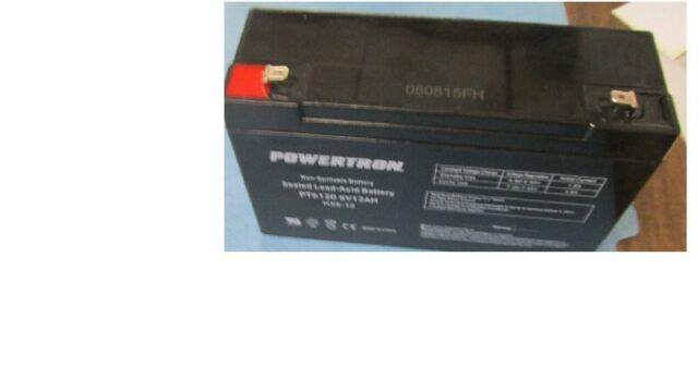 BATTERY POWERTRON PT6120 6V 12 Ah VRLA