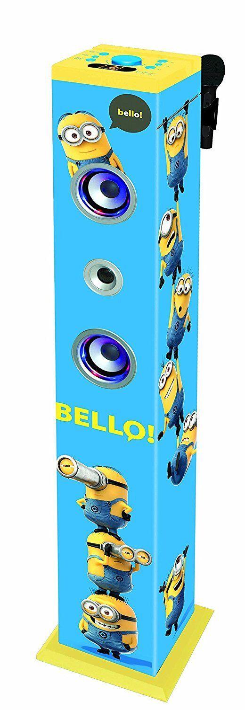 Karaoke Minions blutooth Infantil  Altavoces Luminosos Efectos Sonoros Vocales