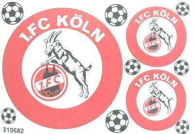 1. Fc Köln Aufkleber Sticker Set - 3 Logos Bundesliga Fussball #1251 Aromatischer Charakter Und Angenehmer Geschmack