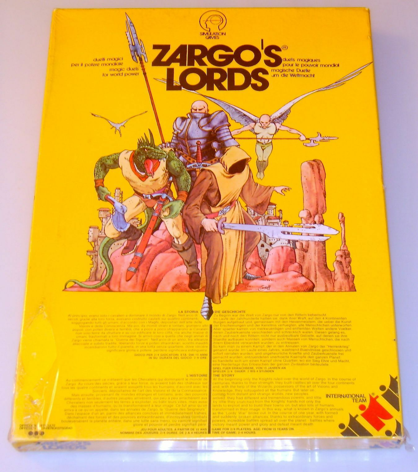 ZARGO'S LORDS - International Team 1979 - BLISTERATO - UNPUNCHED