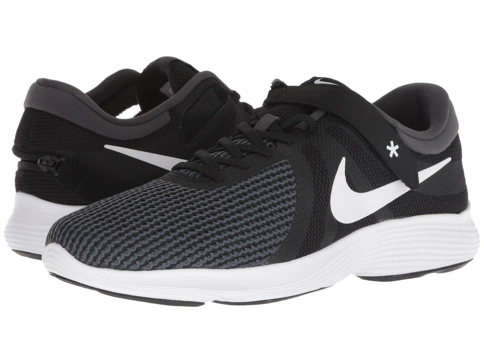 Nike REVOLUTION 4 FLYEASE (4E) Mens Black White-Anthracite AA1730-001 shoes