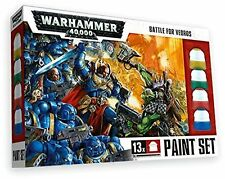 Warhammer 40k: Battle for Vedros Paint Set (13 Paints, 1 Brush) GAW 20-03 NIB
