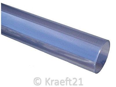 PVC-U Rohr Druckrohr transparent 10 bar Kleberohr Klebeverbinder Klebefitting
