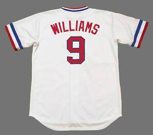 on sale 93445 a7276 Details about TED WILLIAMS Texas Rangers 1972 Majestic Cooperstown Home  Baseball Jersey
