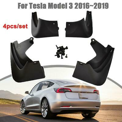 Mud Flaps Splash Guards for Tesla Model 3 Fender Flares Front and Rear Protect with Fixing Screw Set of 4