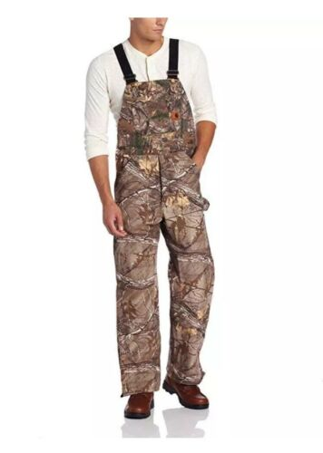 Carhartt R54 Work Camo Bib Overalls Sandstone Insulated Quilted $150 MANY SIZES