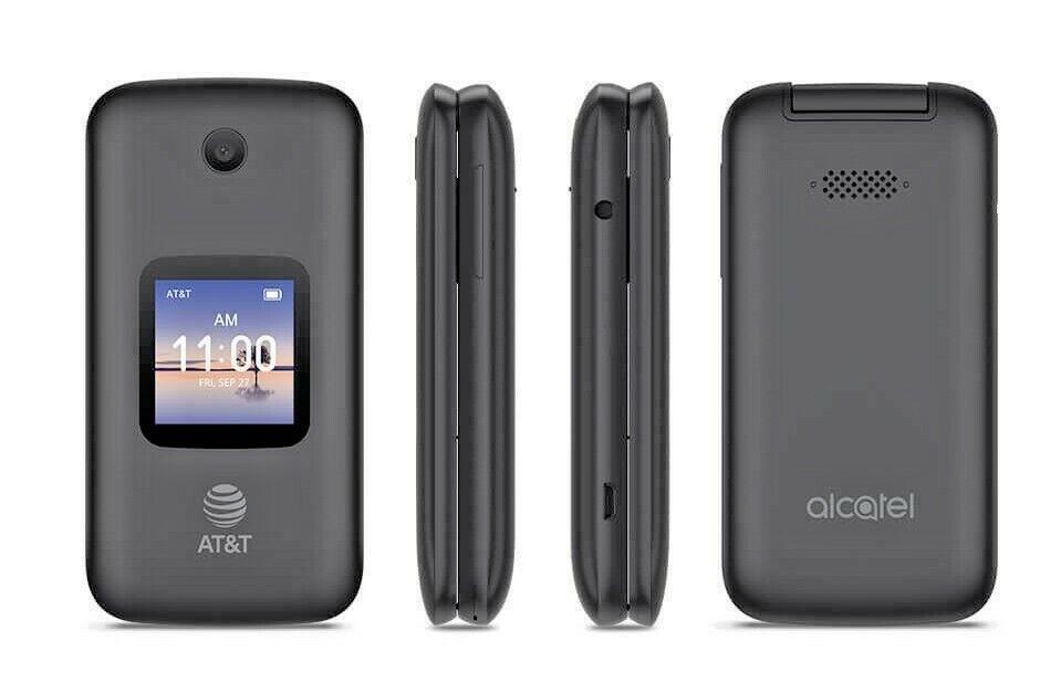 Unlocked Alcatel SMARTFLIP 4052R 4G LTE (AT&T T-Mobile) GSM Flip Cell Phone