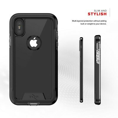 Zizo ION Triple Layered Case-Tempered Glass ScreenProtector Iphone X/Xs/XR/XSMaX