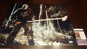 KANE-HODDER-SIGNED-16X20-METALLIC-PHOTO-JASON-FRIDAY-THE-13TH-JSA-COA-90587