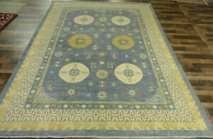 """10'x13'5"""" New Hand Knotted wool Finest Peshawar Oriental Traditional Gray rug"""