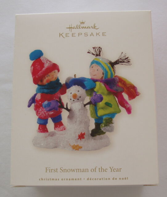 Hallmark 2008 Kids Building First Snowman of the Year Christmas Ornament