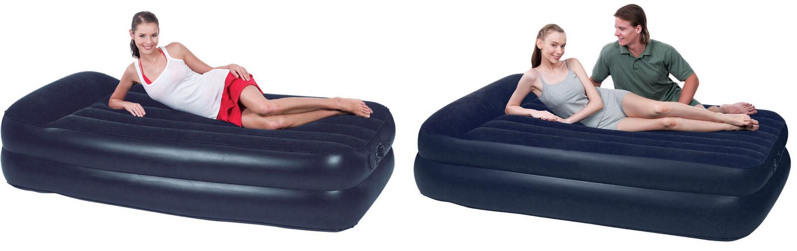 Pumpbar dubbelsäng för madrasser med uppblåsbar madrass