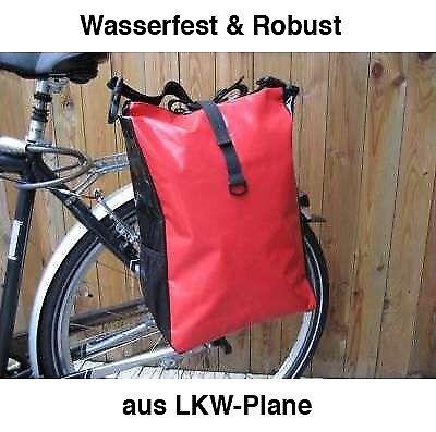 LKW-Plane Gepäcktasche Fahrradtasche Gepäckträgertasche wasserdicht Rot