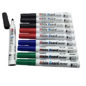 10-Large-Dry-Wipe-White-Board-Markers-Pens-Bullet-Tip-UK-Based-Seller-NEW