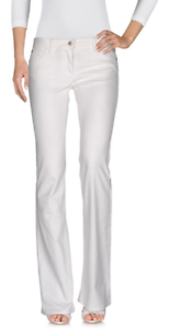 Roberto Cavalli Flare&Wide Leg Jeans White It 42, US 6 NWT